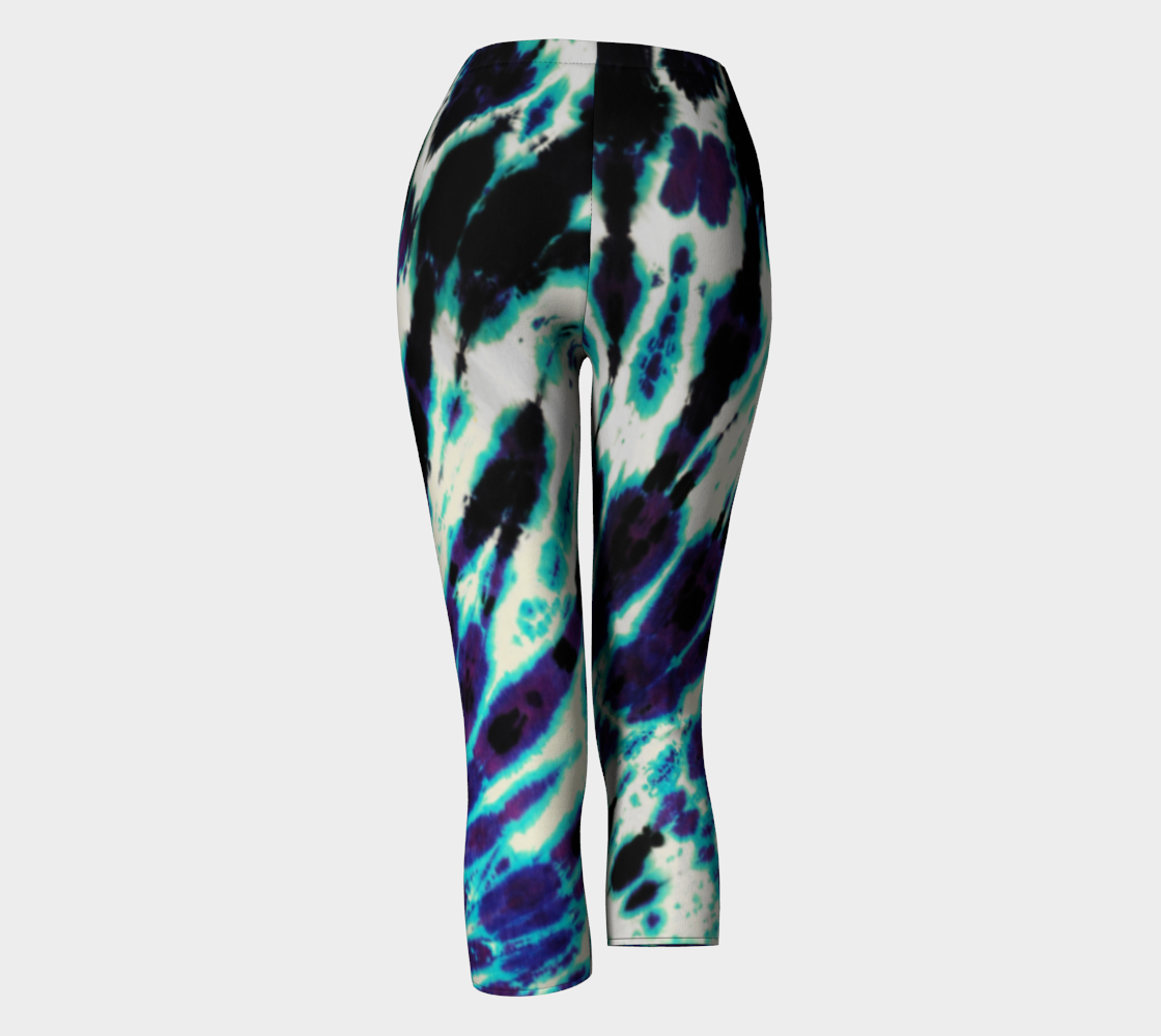 Tie Dye Capri Leggings preview #4