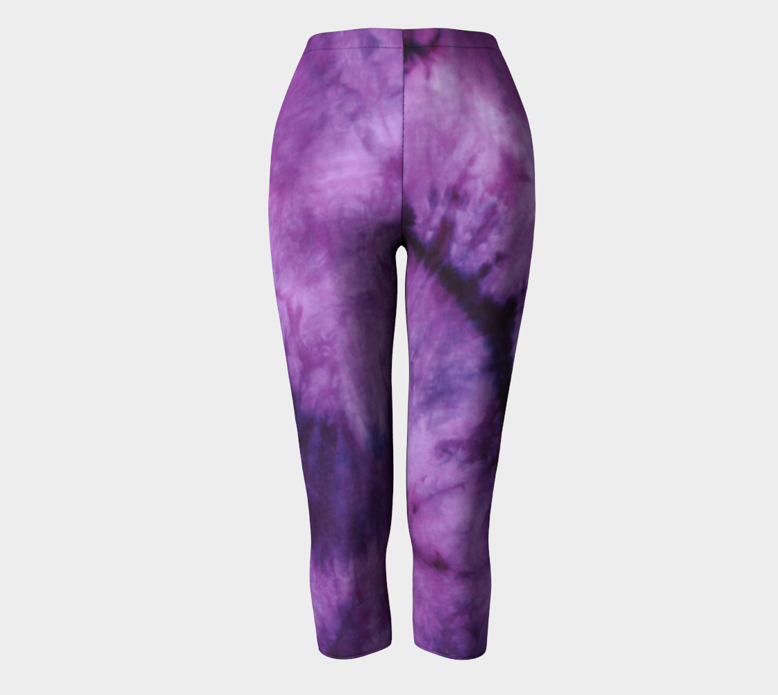 Purple Marble Capri Leggings preview