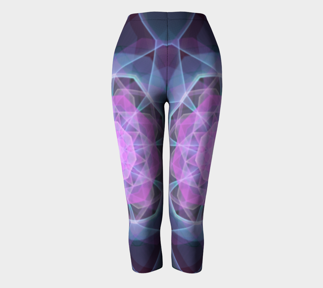Gemstone Mandala Capri Leggings preview