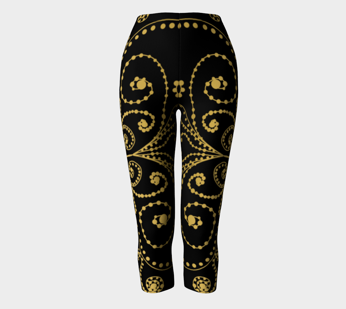 Black and Gold Swirls and Dots Doodle Graphic Design preview
