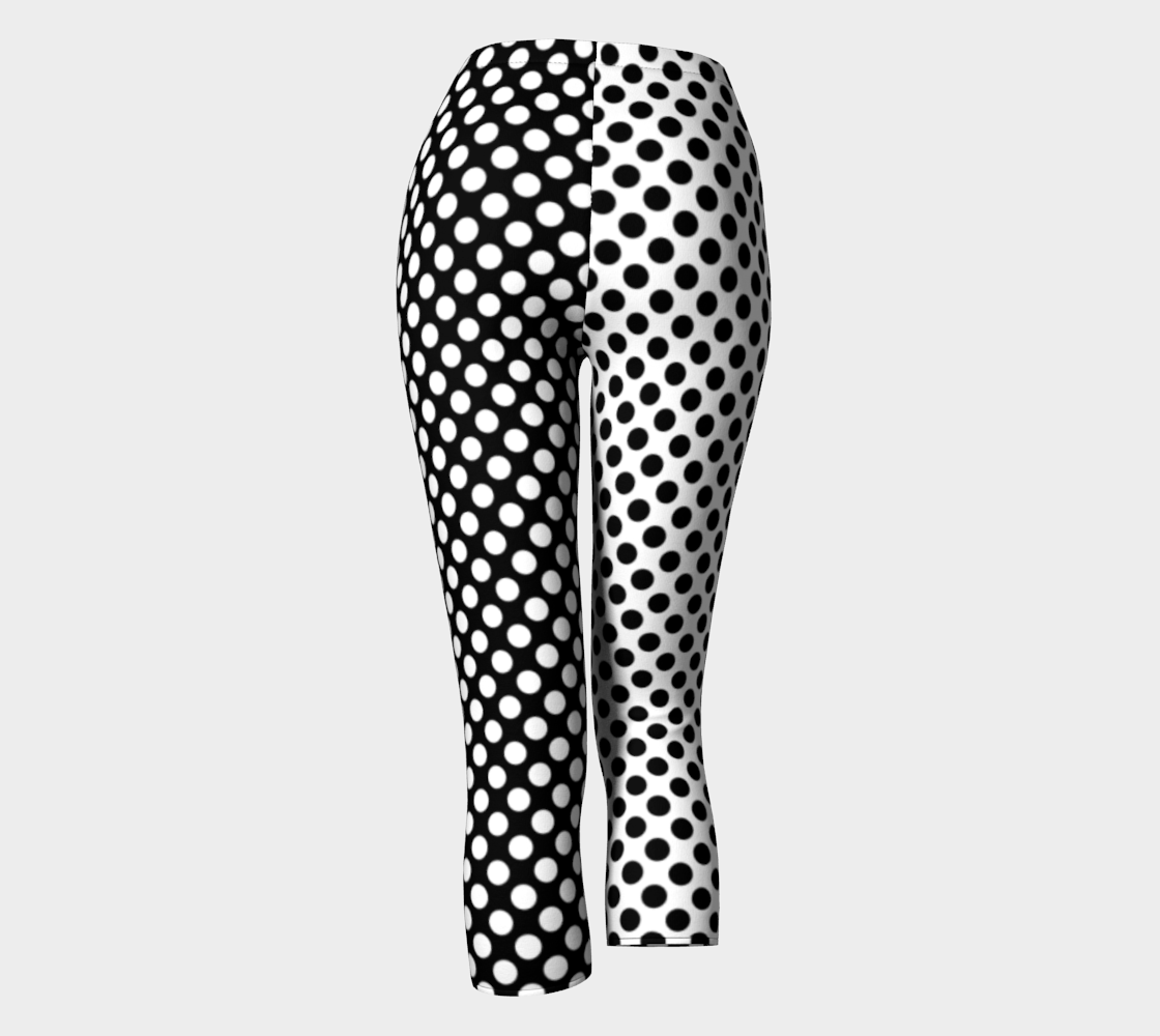 Mirrored Opposites Black and White Polka Dot preview #4