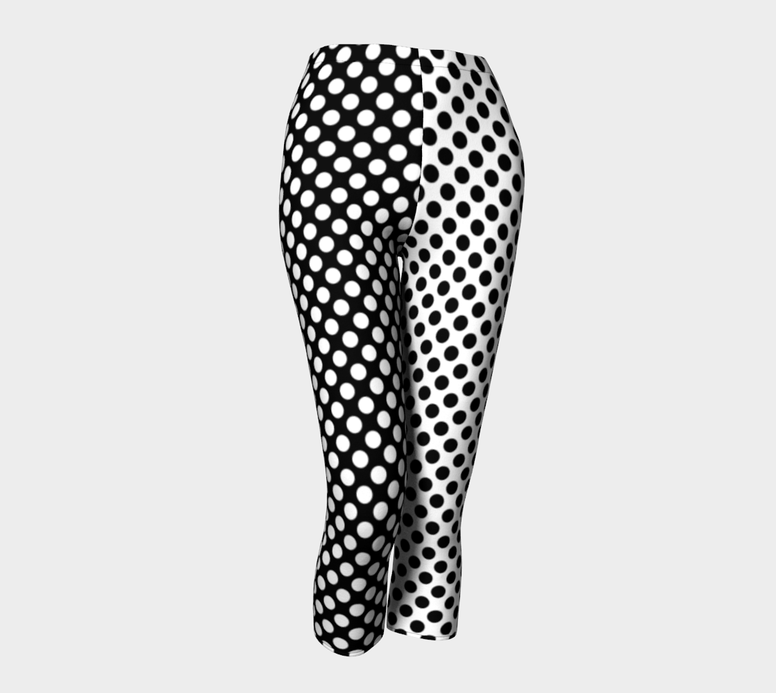 Mirrored Opposites Black and White Polka Dot preview #1