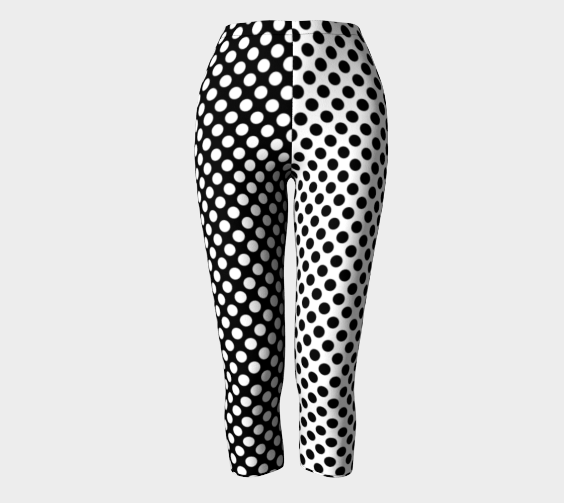 Mirrored Opposites Black and White Polka Dot preview