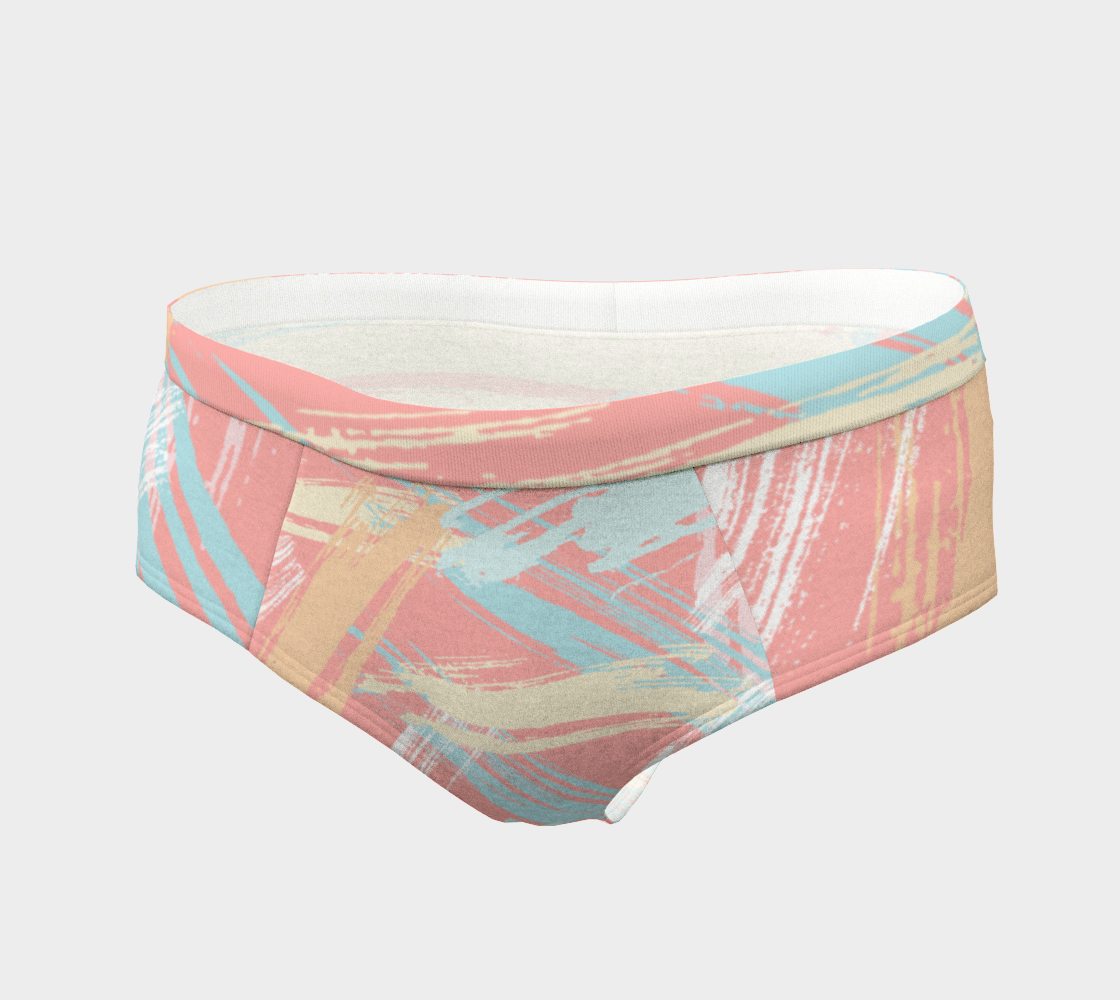 Pastel Abstract Brush Stroke Cheeky Briefs preview