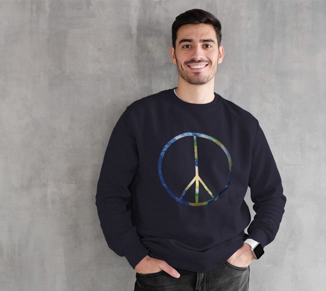 Peace on Earth Navy Sweatshirt preview