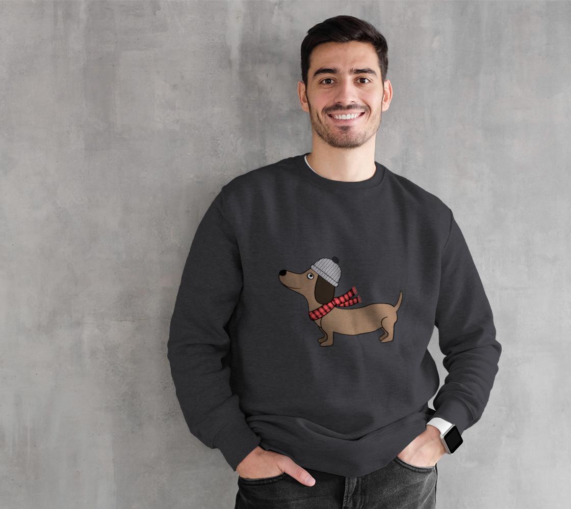 Dachshund Through the Snow Crewneck Sweatshirt preview