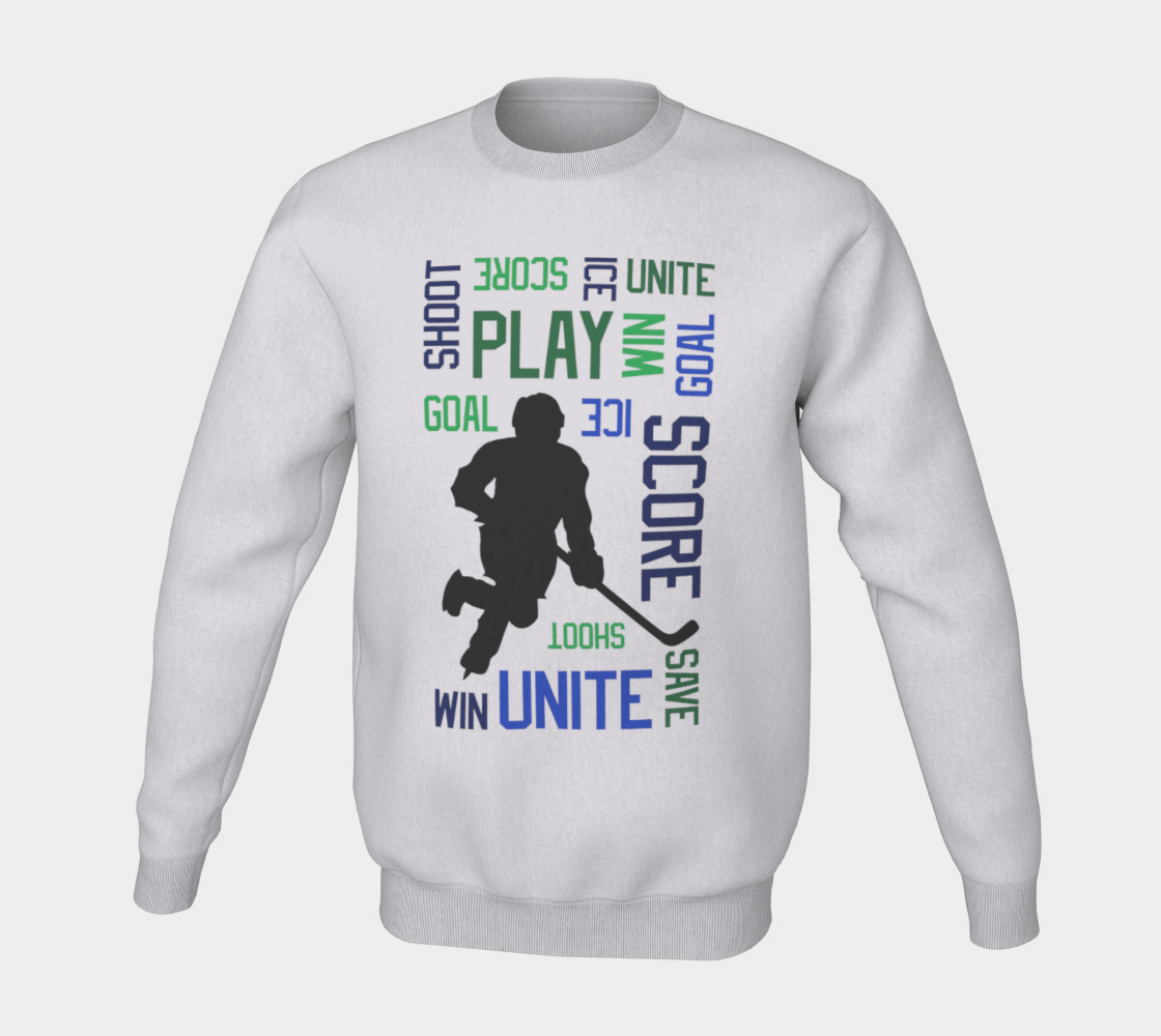 For the Love of Hockey Crewneck Sweatshirt - Blue preview #5