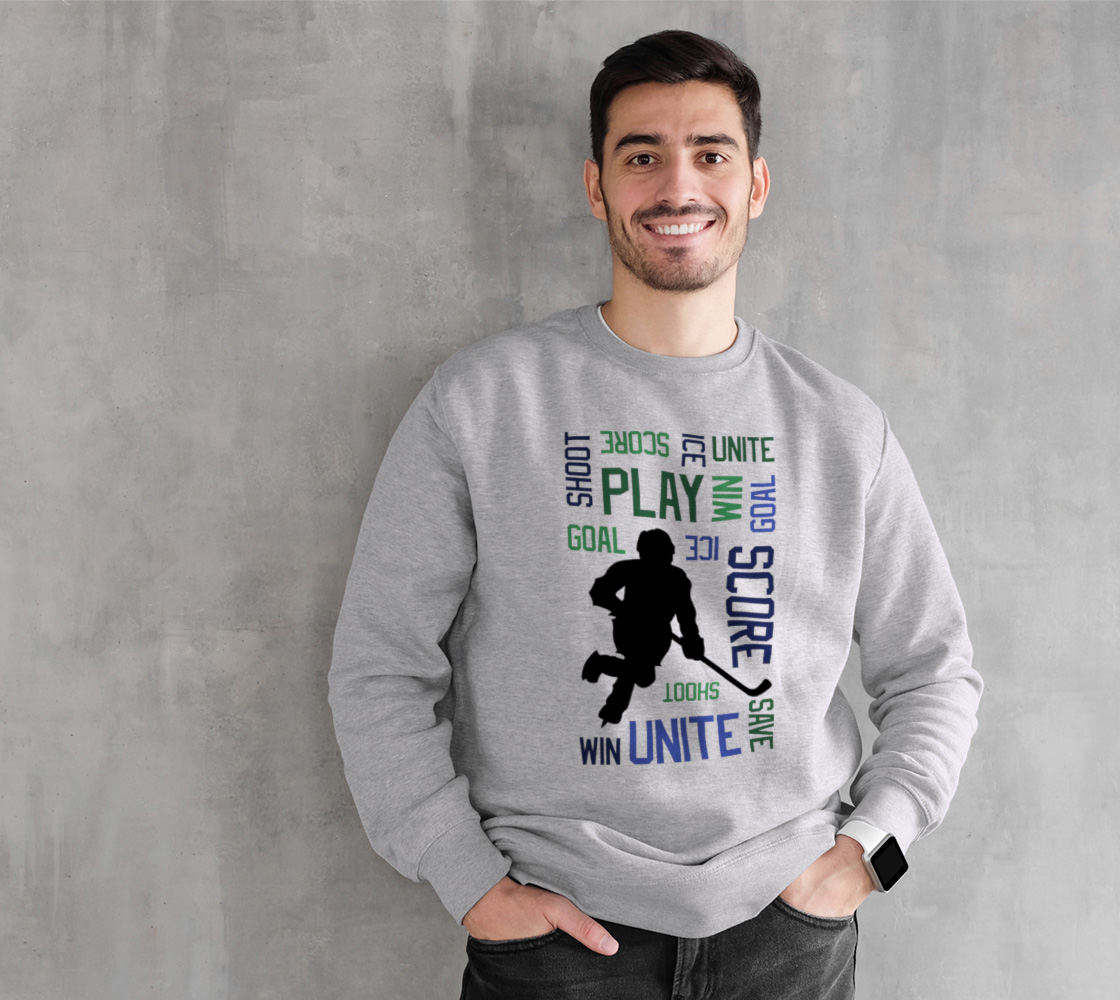 For the Love of Hockey Crewneck Sweatshirt - Blue preview