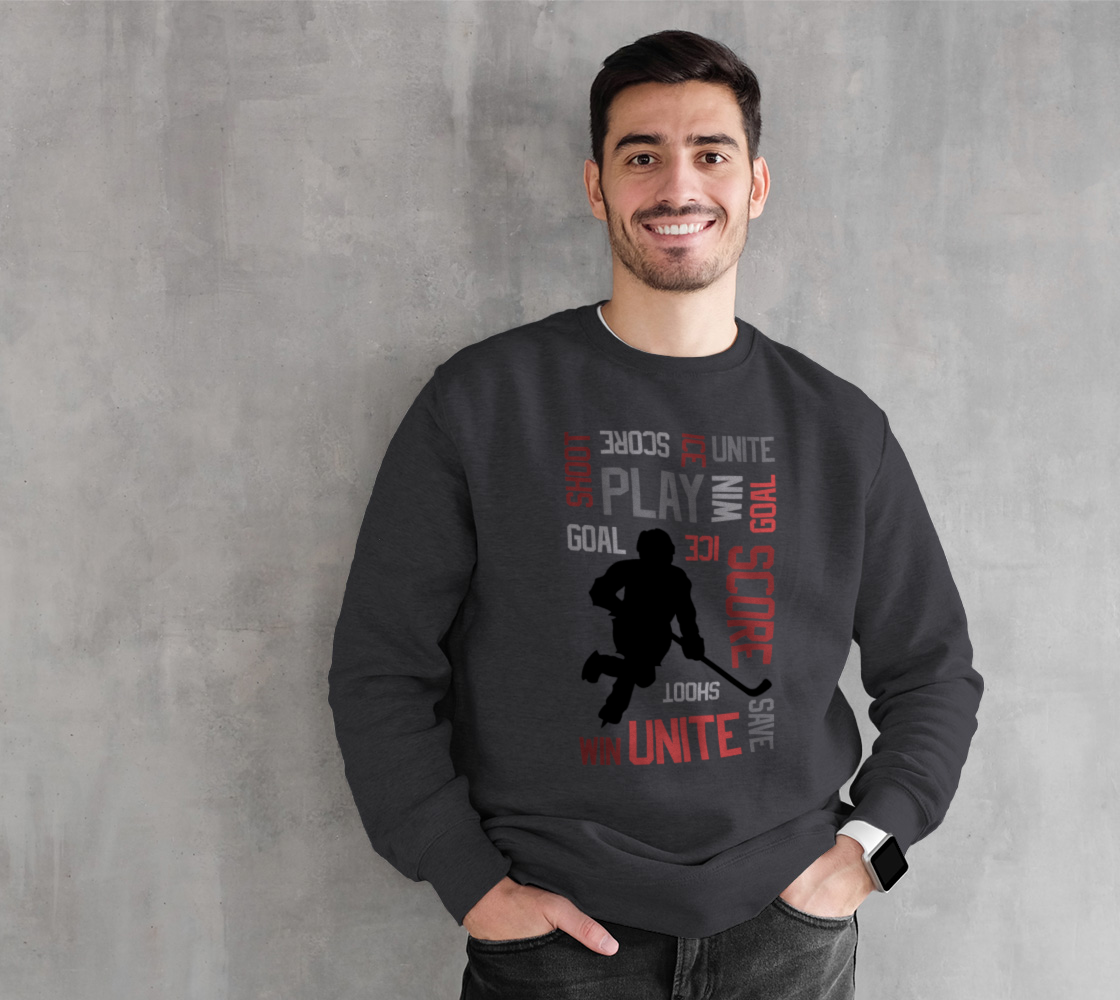 For the Love of Hockey Crewneck Sweatshirt - Red preview