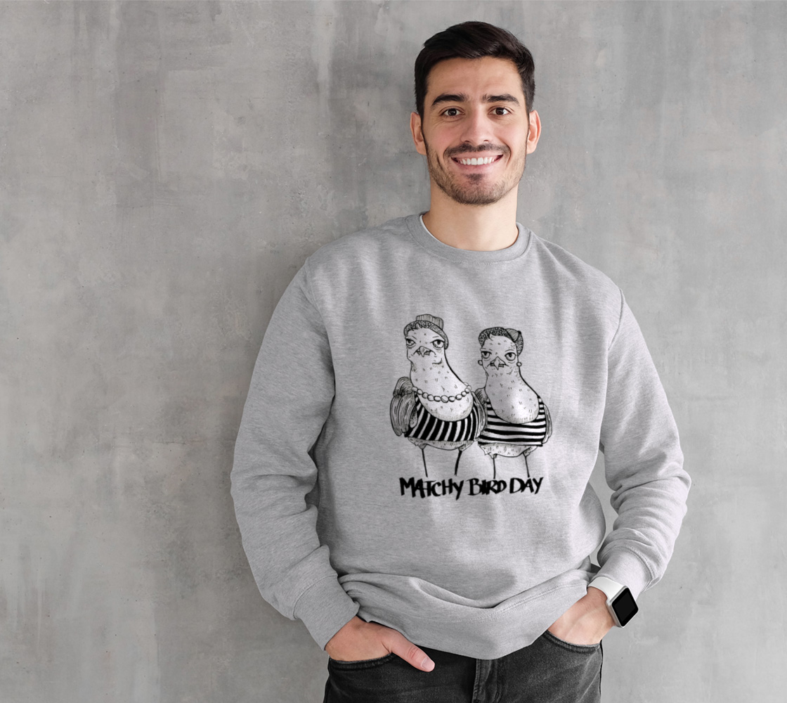 Matchy Bird Day Crew sweater preview