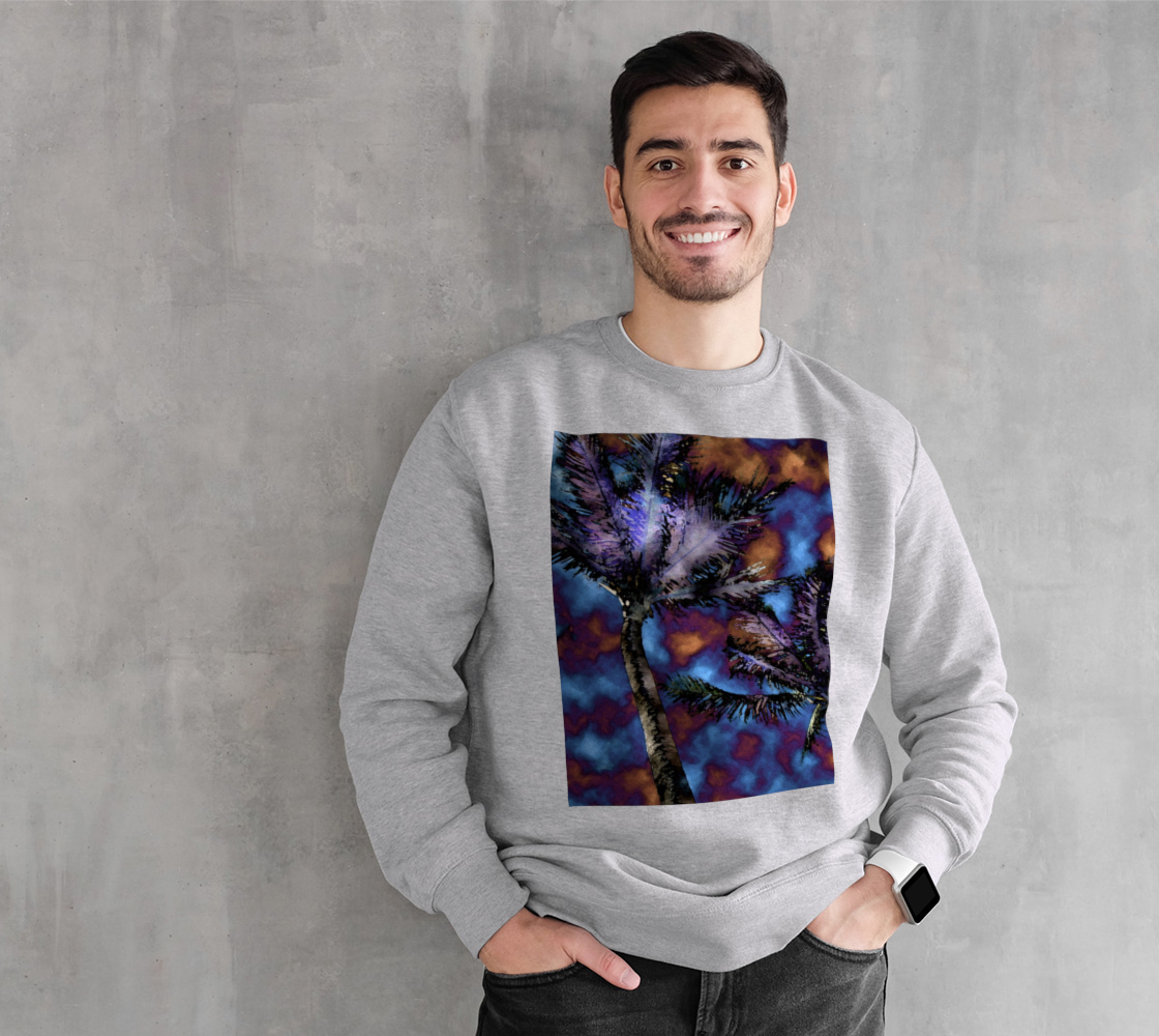 Electric Tropical Palms Sweatshirt preview