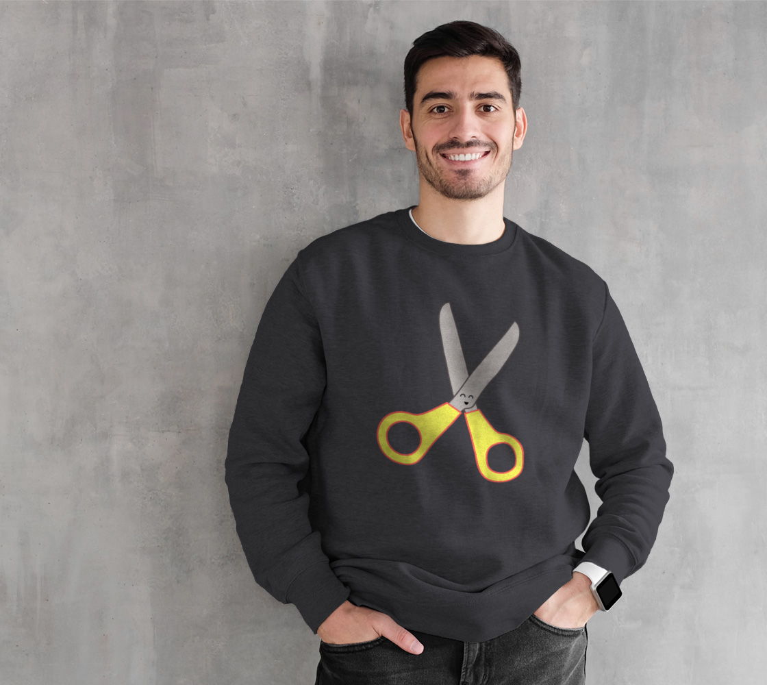 Yellow Scissors Crafty Crewneck preview