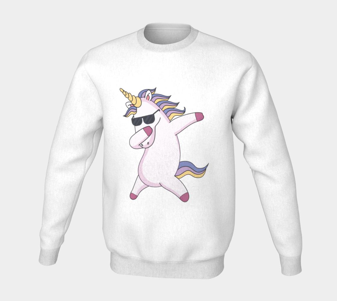 Unicorn dab sweater preview #5