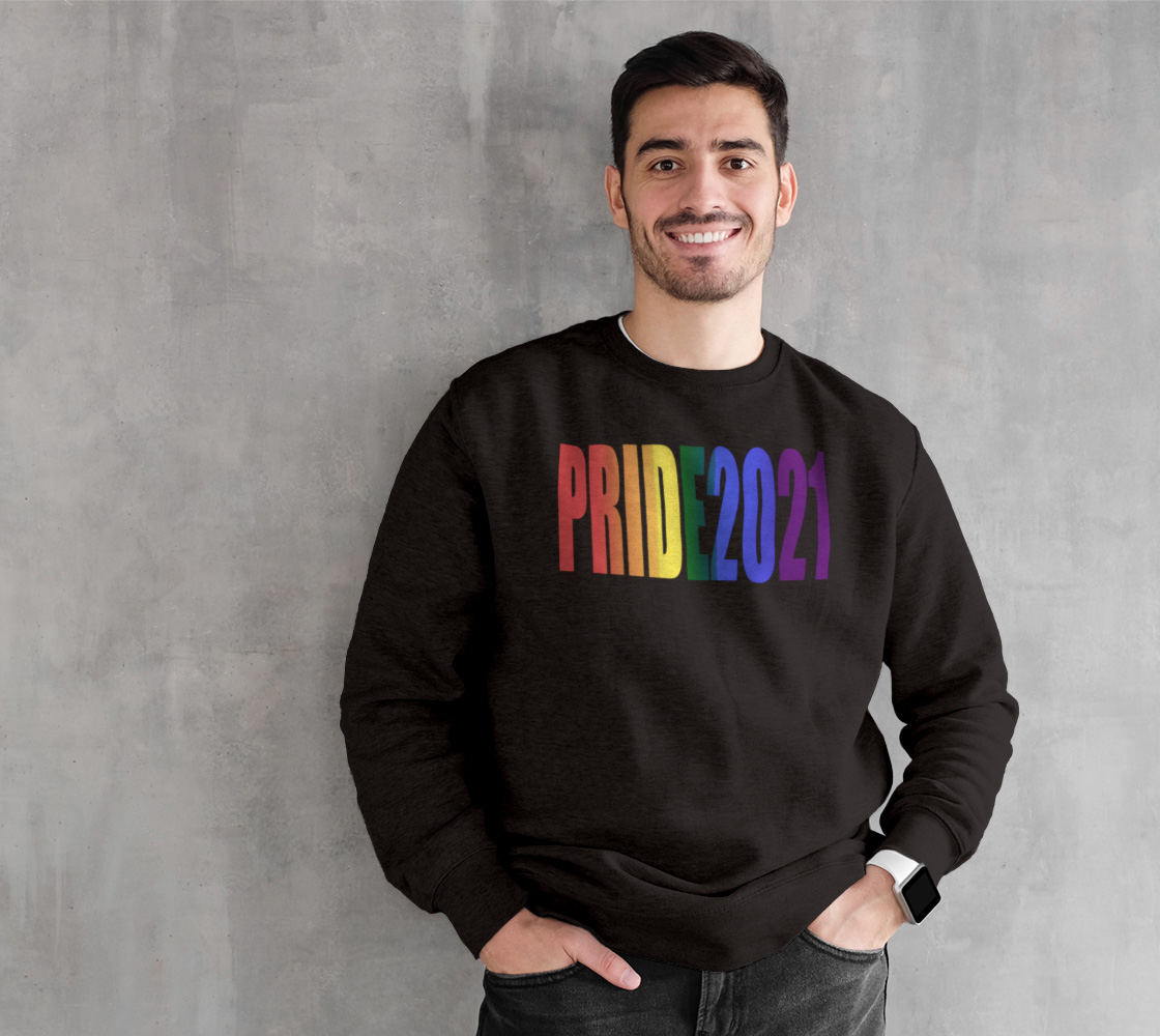 LGBT Rainbow Flag Typography Gay Pride 2021 preview