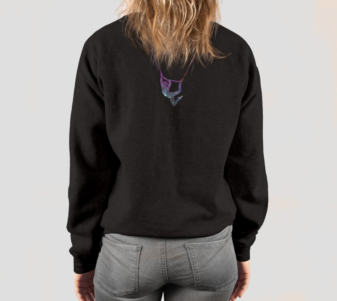 I Can Fly - What's Your Superpower? Aerial Stars Silks Sweatshirt preview #4