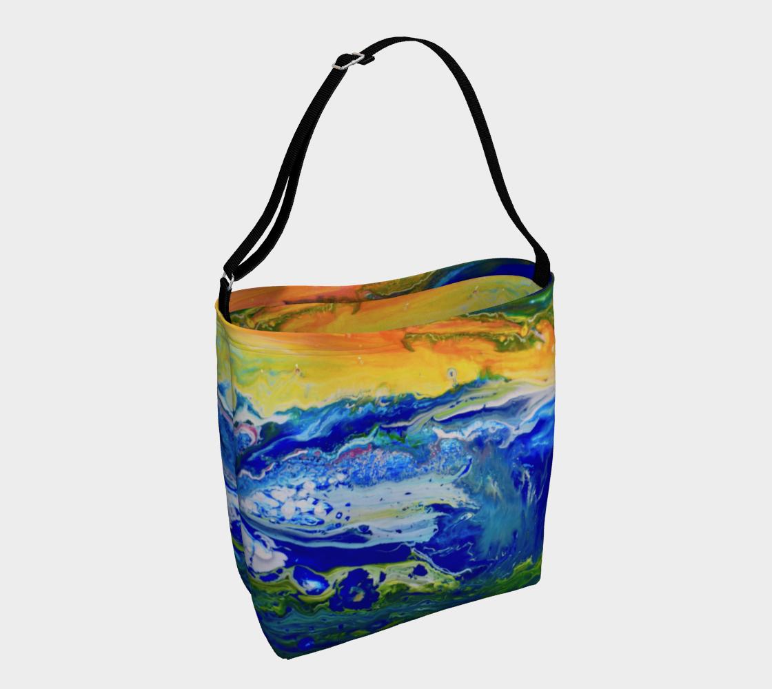 Aperçu de Sunset on cosmic sea Tote Bag