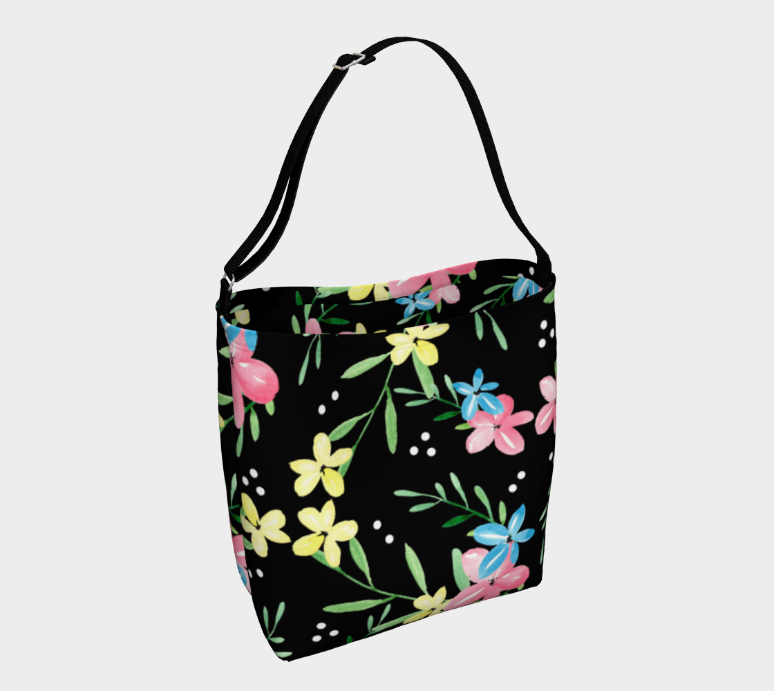 Floral Watercolor Day Tote preview