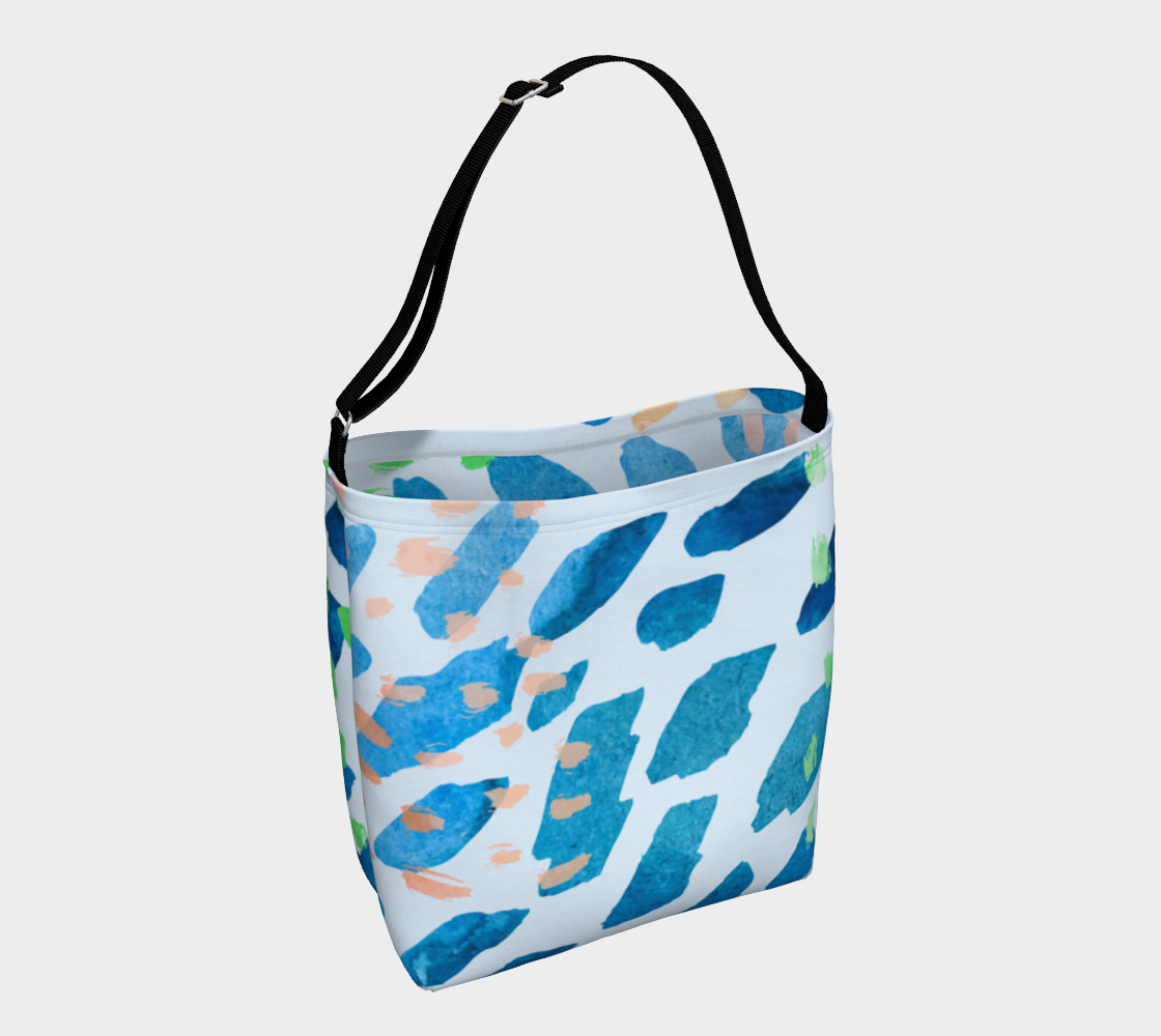 Under The Sea Watercolor Abstract Day Tote preview