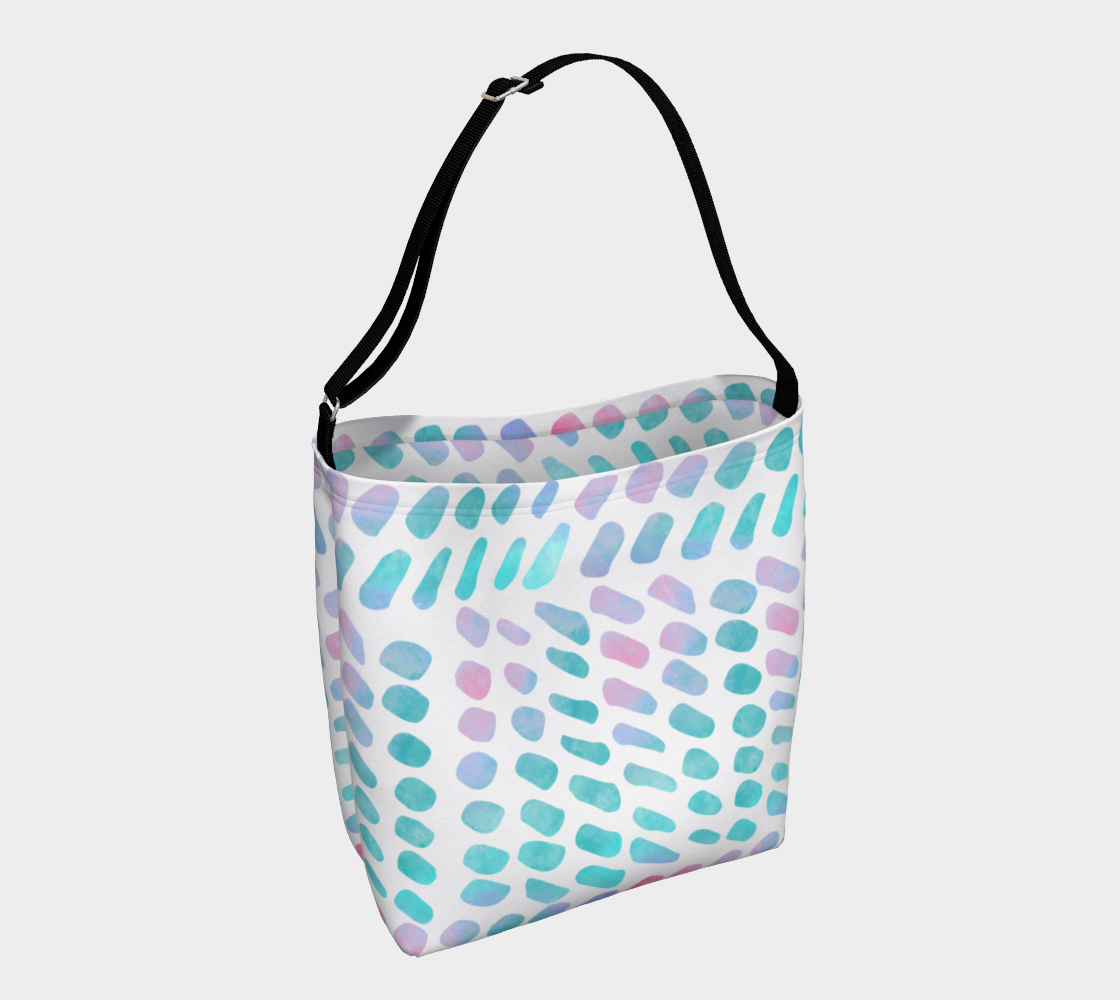 Pink and Blue Cotton Candy Day Tote preview