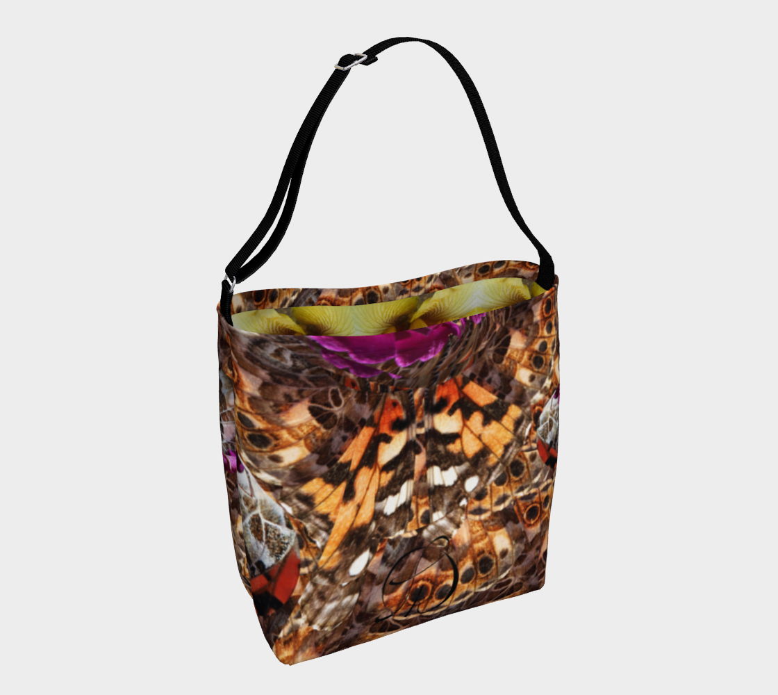 Galaxy Day Tote 2 with Yellow Iris Interior 3D preview