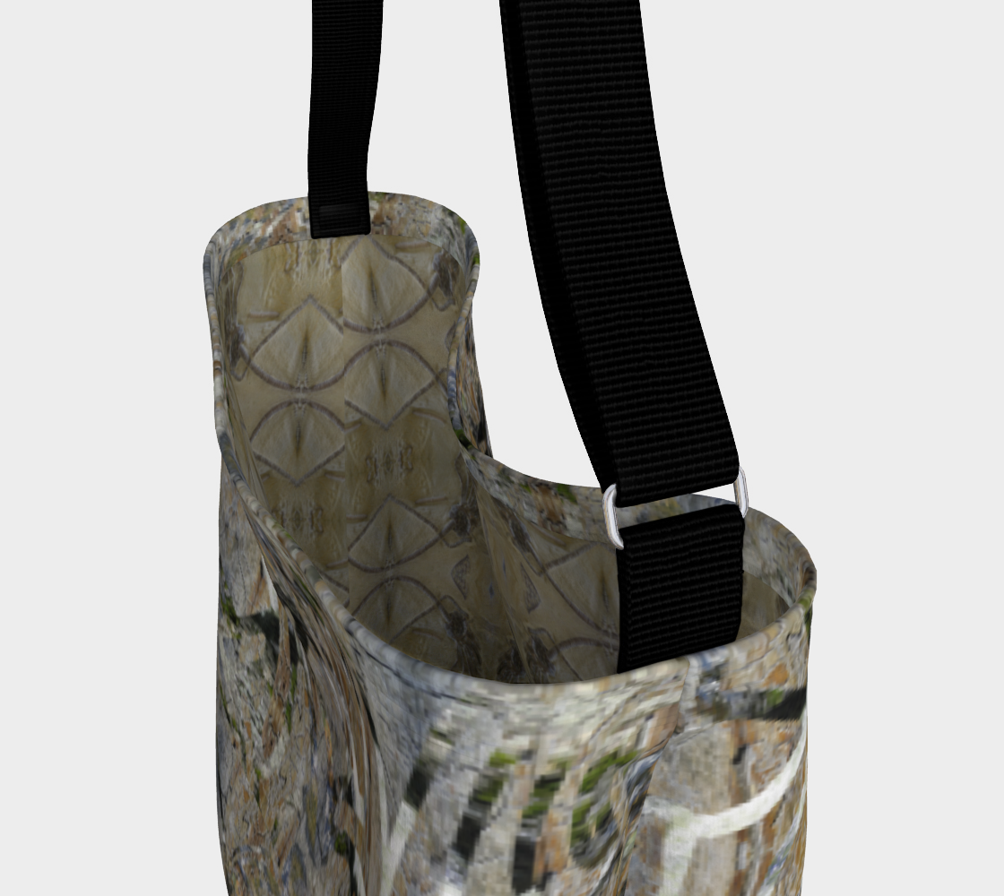 Natural Paths Day Tote with Fossil Interior preview #3