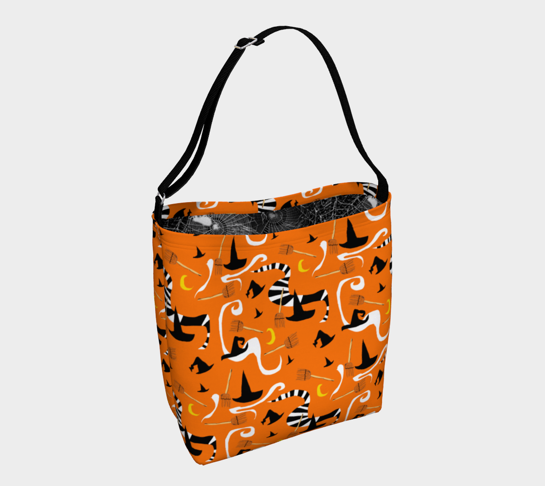 Aperçu de Witches Hats and Brooms Day Tote