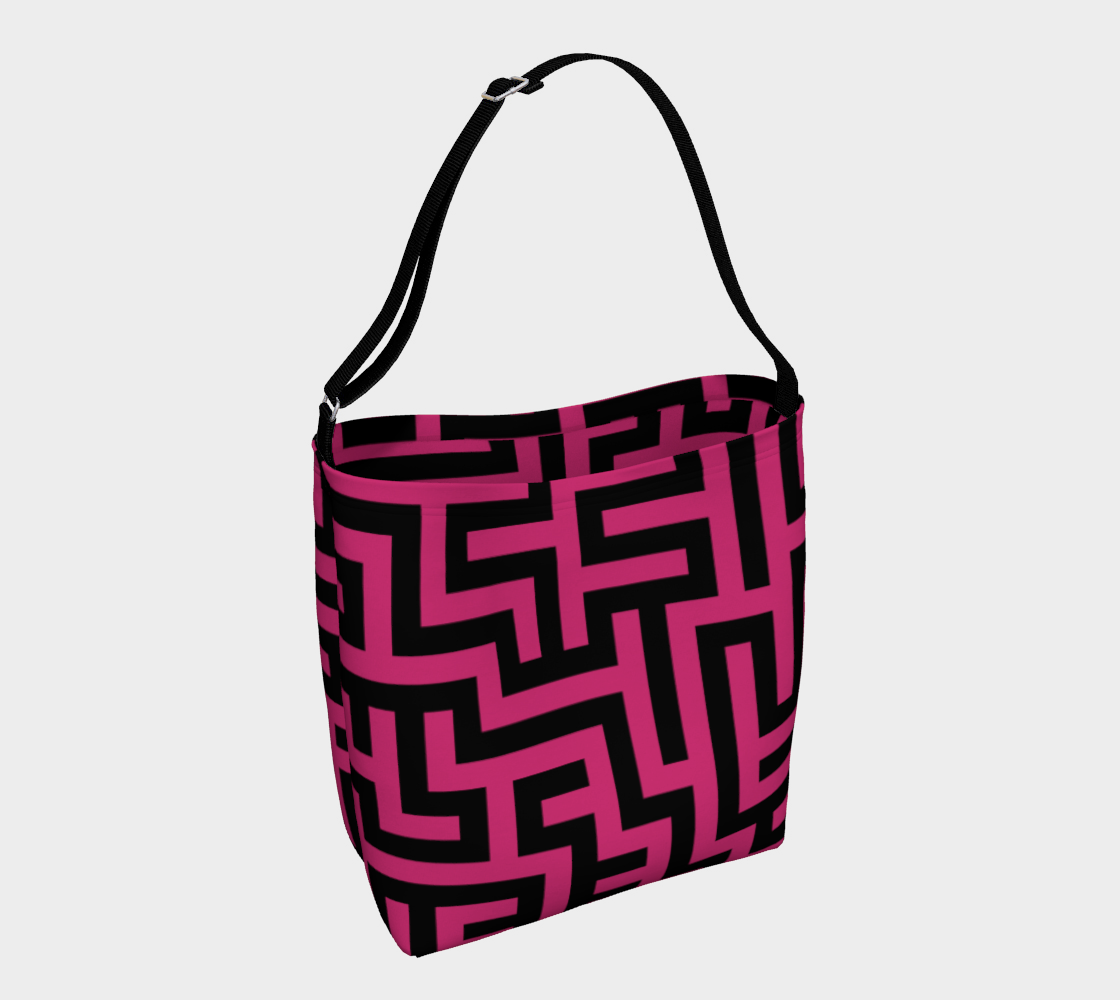 Pink and Black Maze Pattern preview