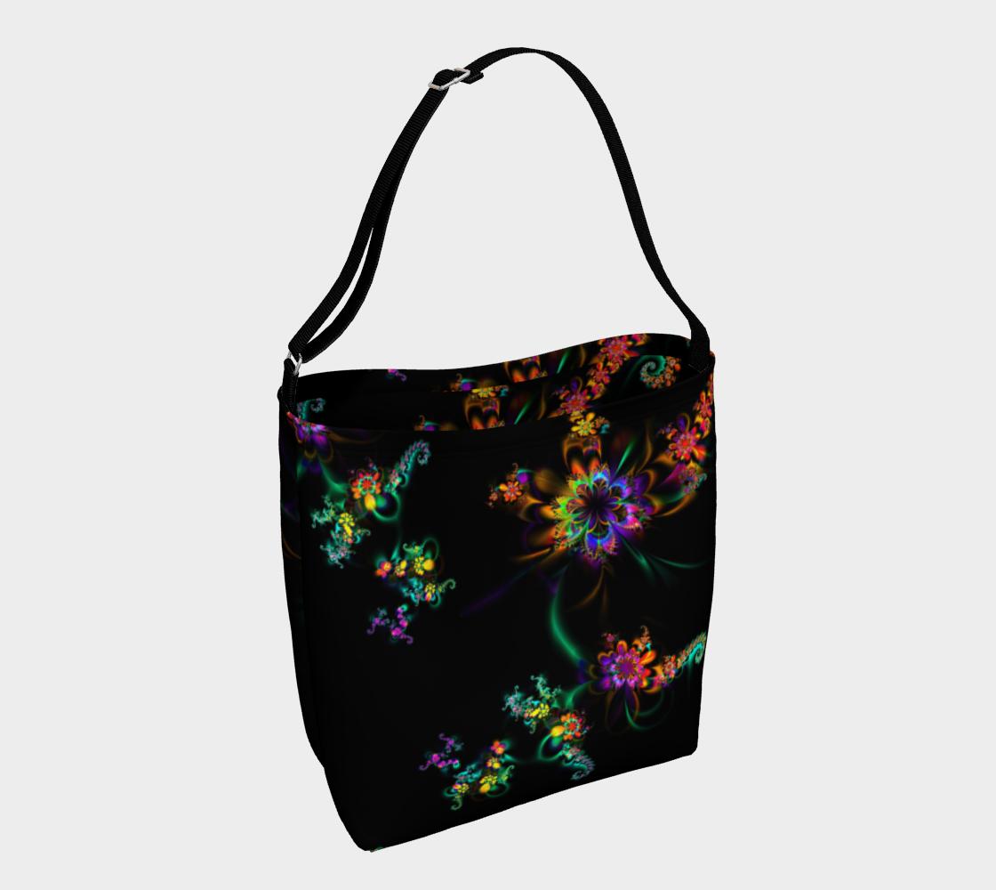 Decorative Flower Design on Black preview