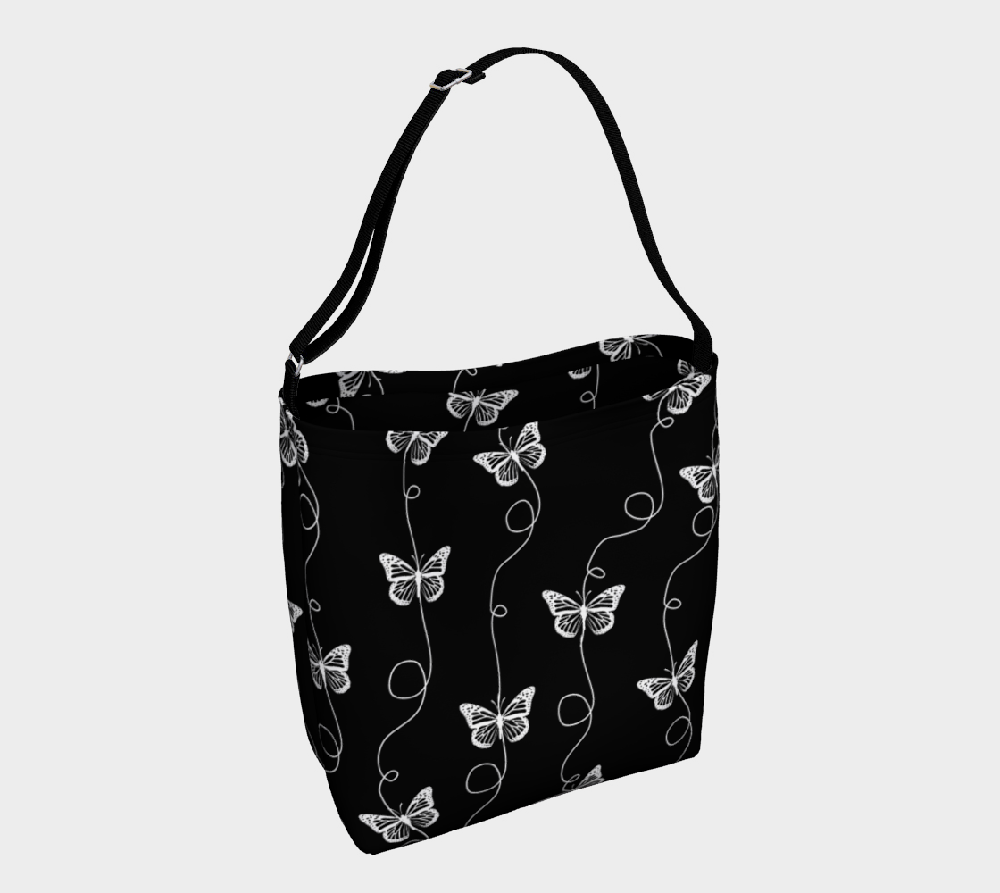 Black and White Butterfly Pattern preview