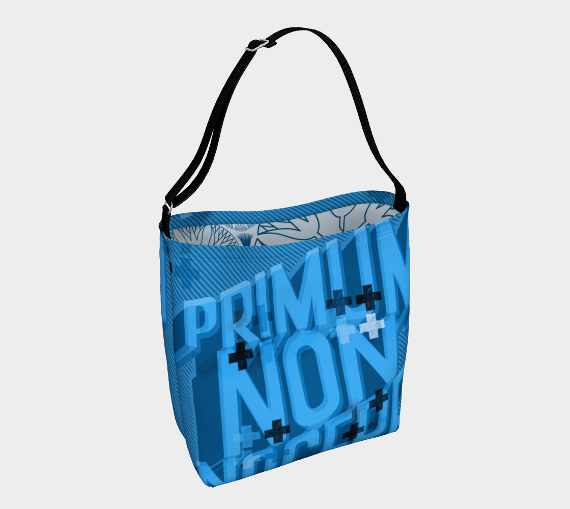 Aperçu de First, Do No Harm - periwinkle day tote