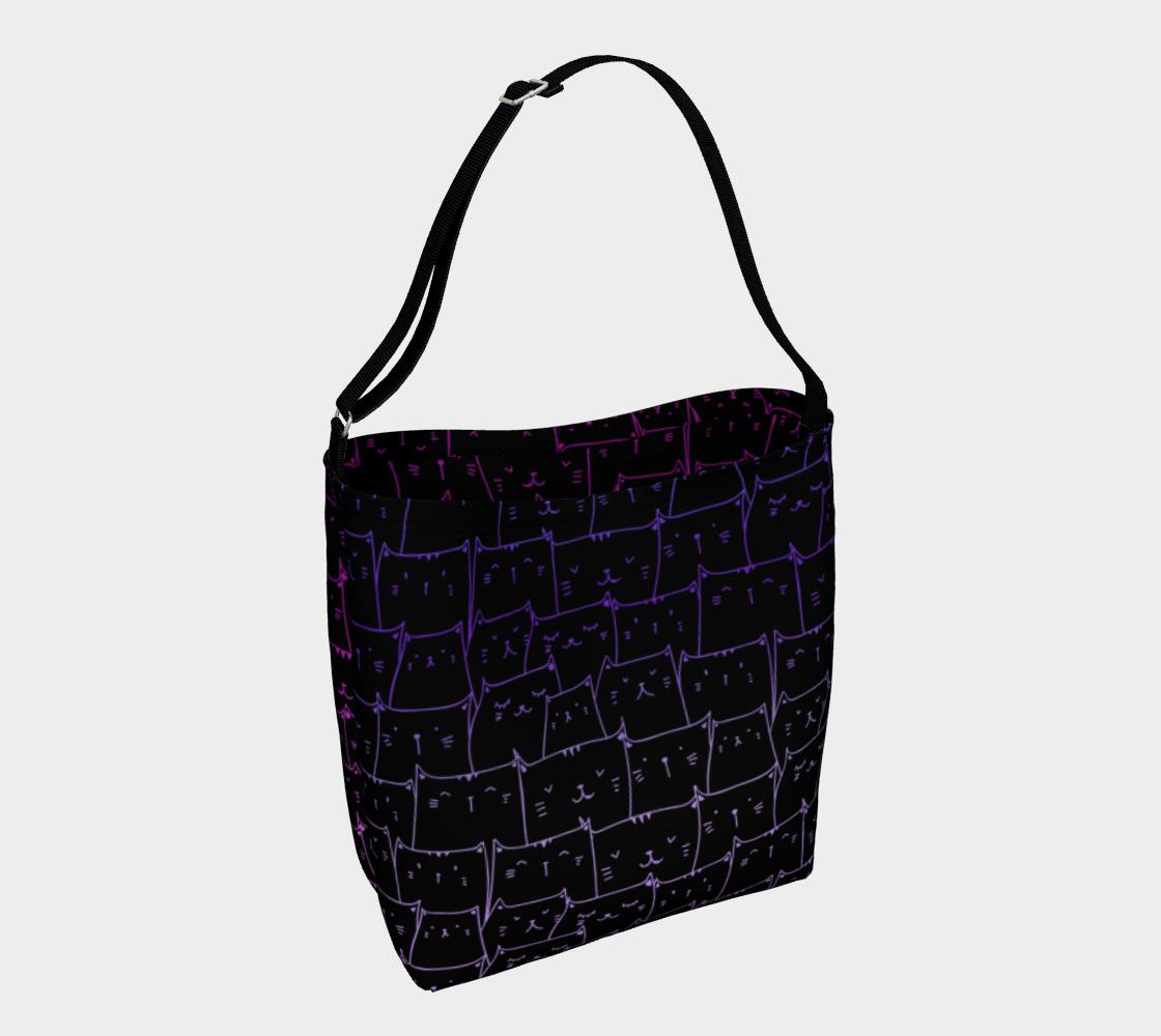 Tote Bag - Happy Kitties Purple preview