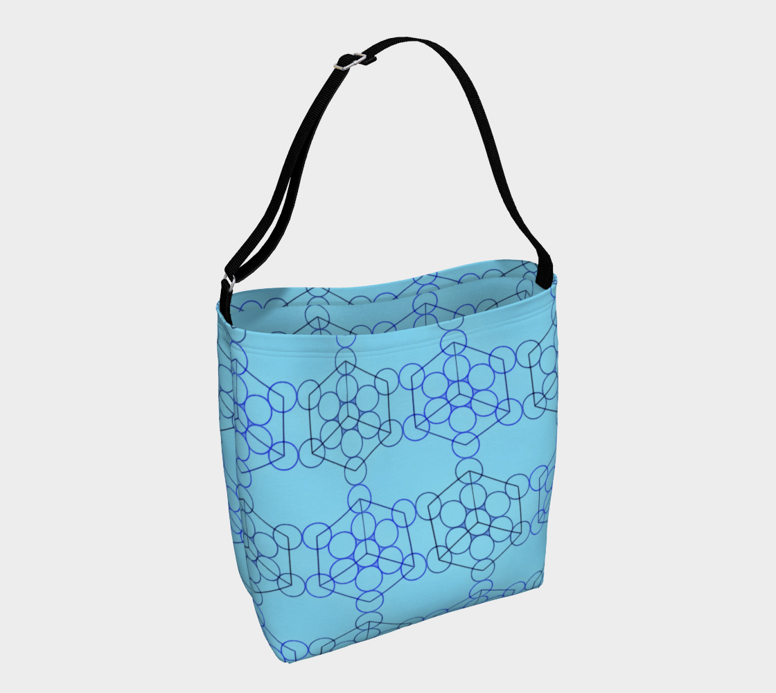 Geometric Tiling Blue Day Tote preview