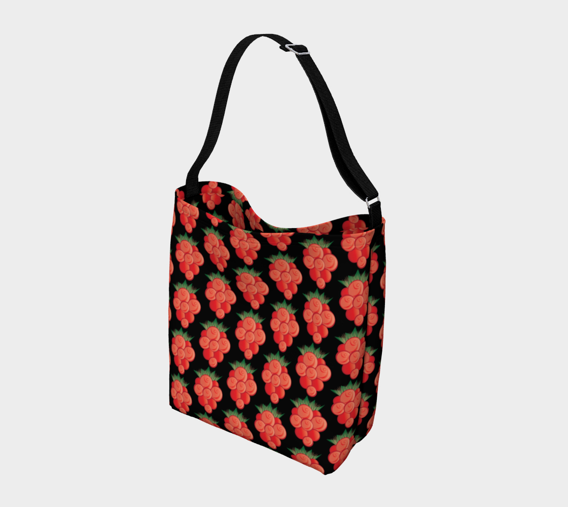 Salmonberry Day Tote Black preview #2