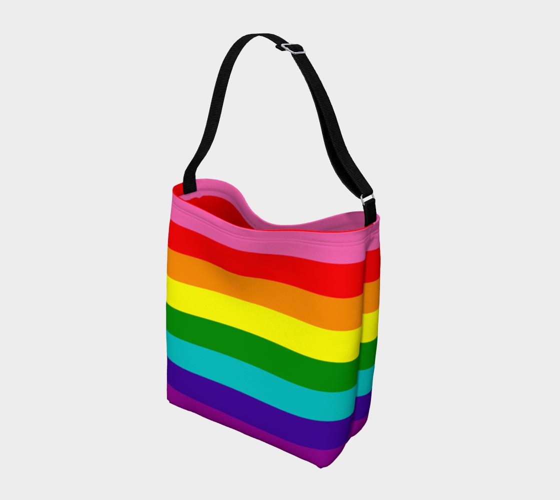 Aperçu de Colorful Rainbow Striped Pattern #2