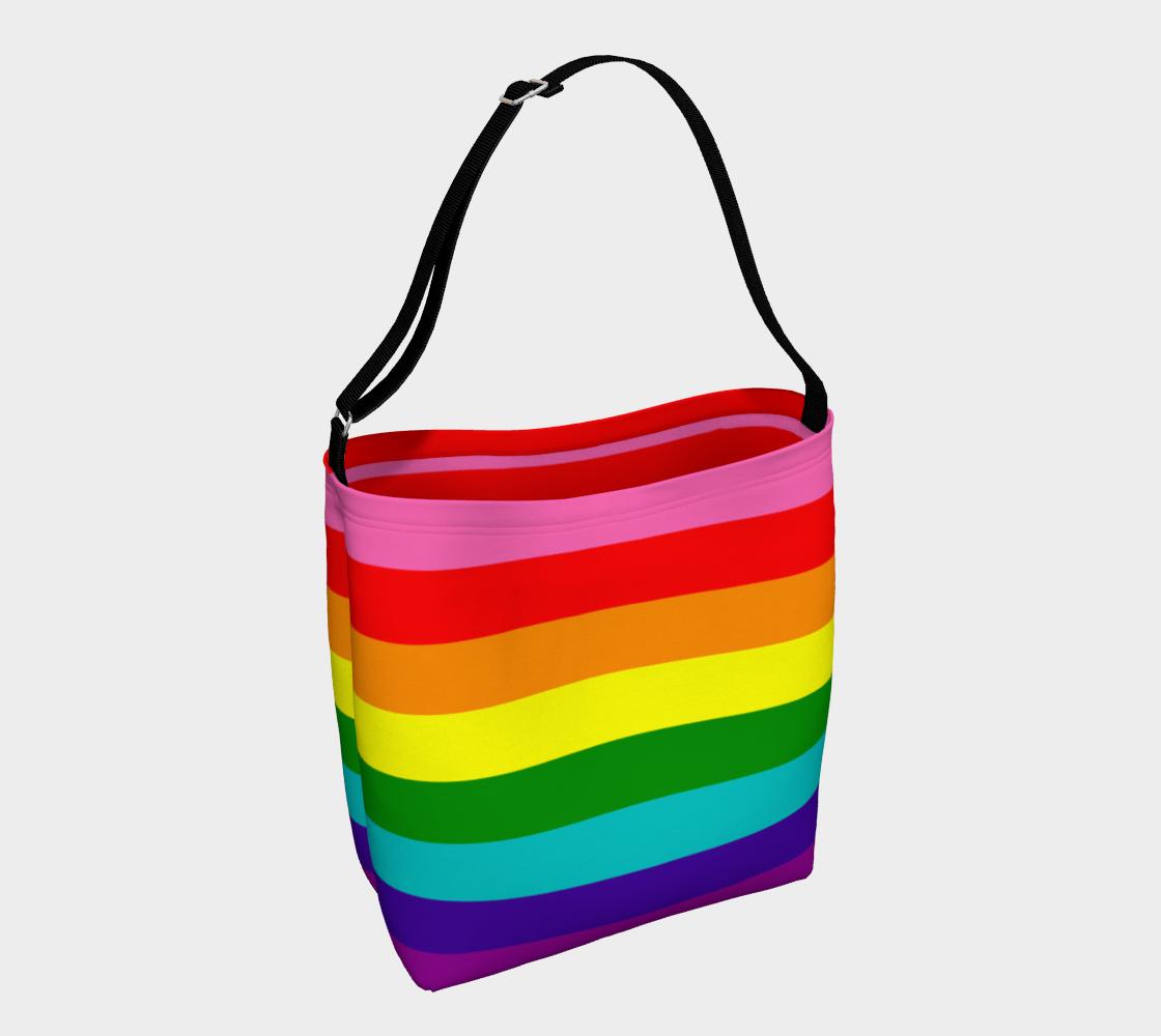 Aperçu de Colorful Rainbow Striped Pattern