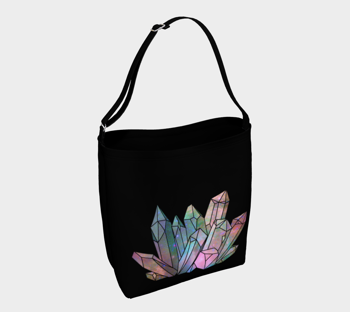 Cosmic Crystals Unicorn Rainbow Aura Day Tote Bag Bright AOW preview