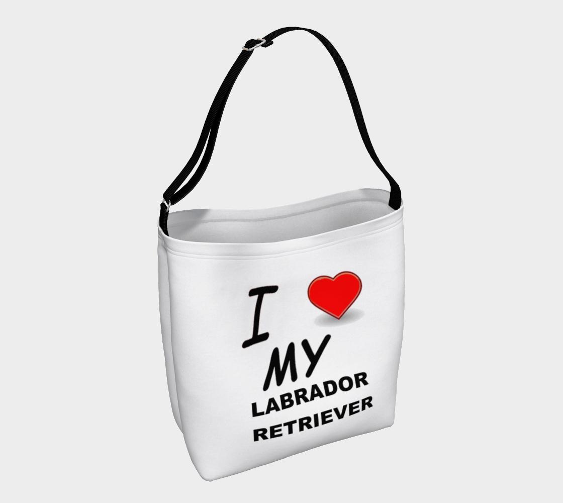 Labrador Retriever love day tote bag preview