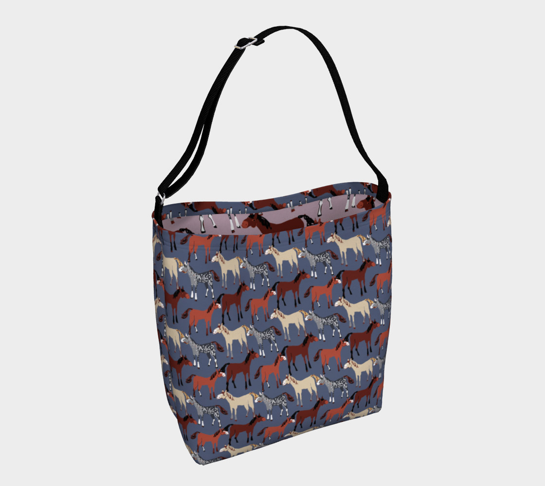 Horse pattern in blue preview