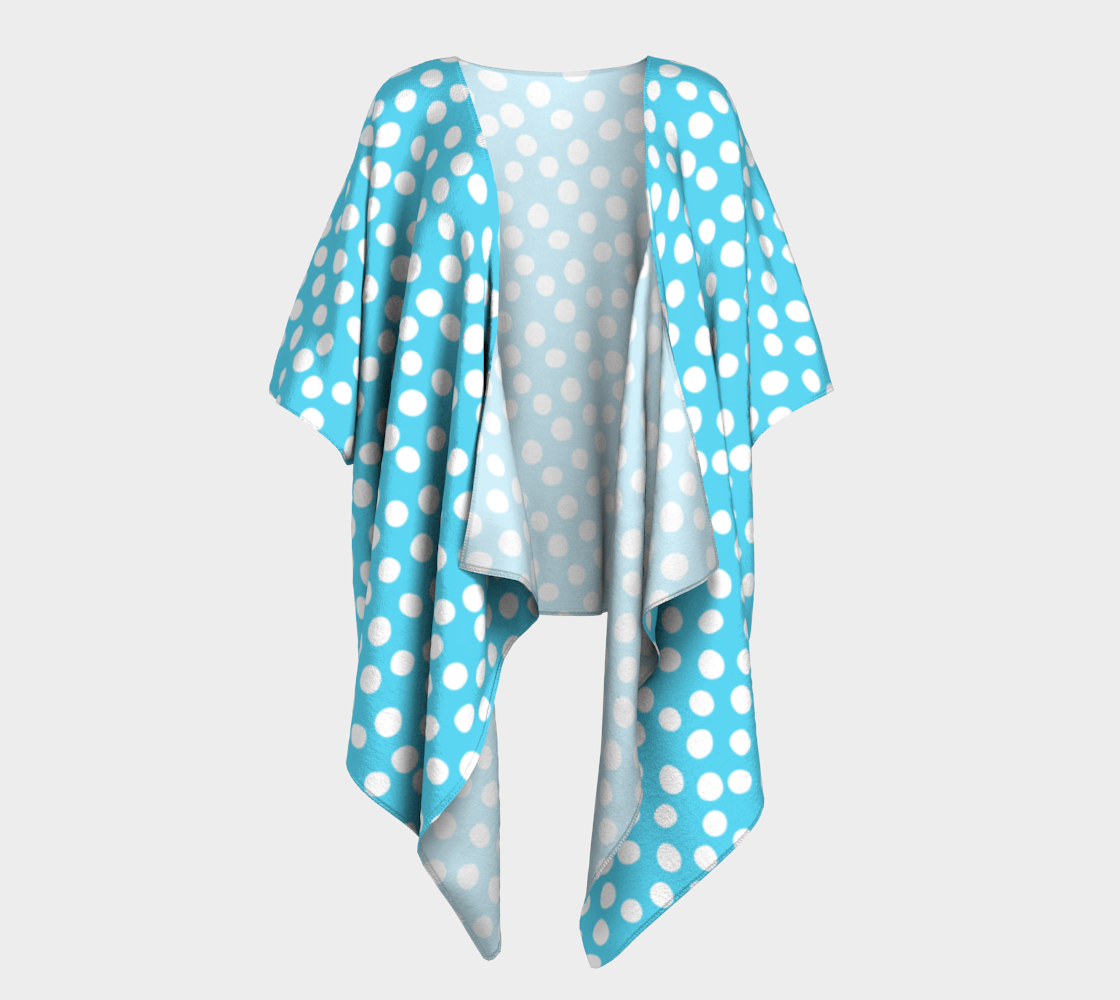 All About the Dots Draped Kimono - Blue preview