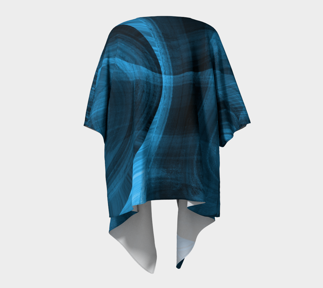 Bluish Black Hole Drapped Kimono preview #4