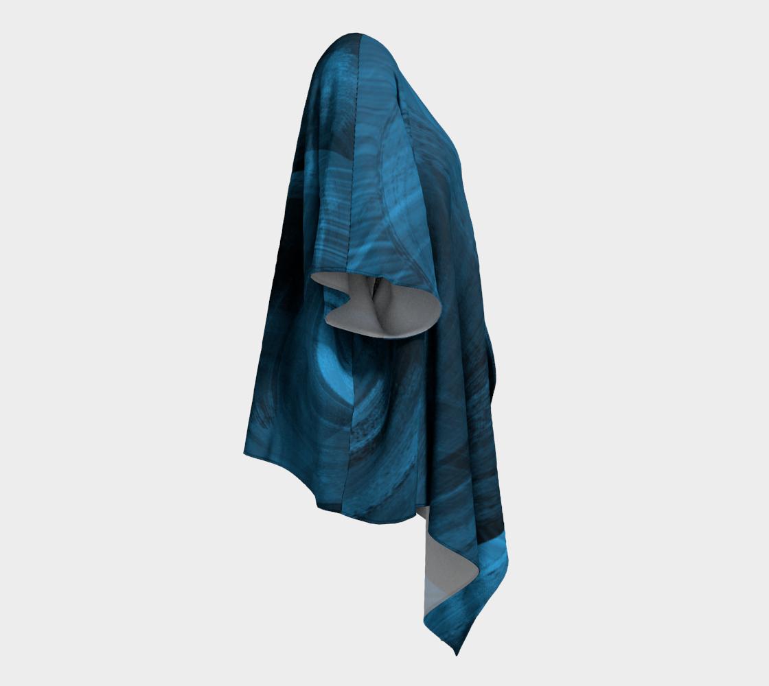 Bluish Black Hole Drapped Kimono preview #3