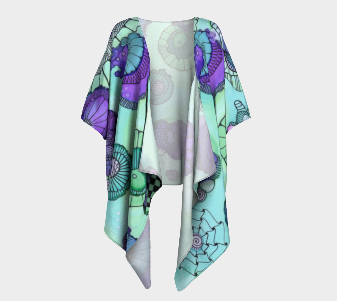 Pistachio Draped Kimono preview