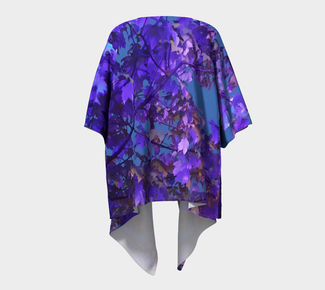 Illuminated Blue & Purple Leaves  preview #4
