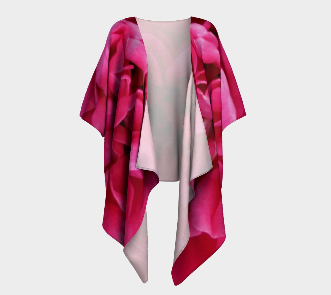 Aperçu de Multi Petaled Rose Draped Kimono 160526a