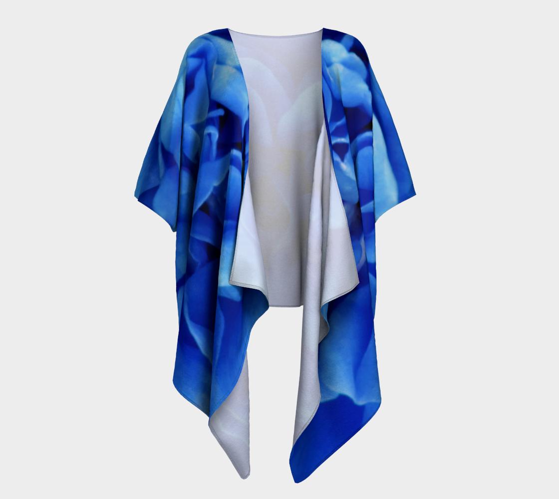 Aperçu de Blue Rose Draped Kimono 160626a