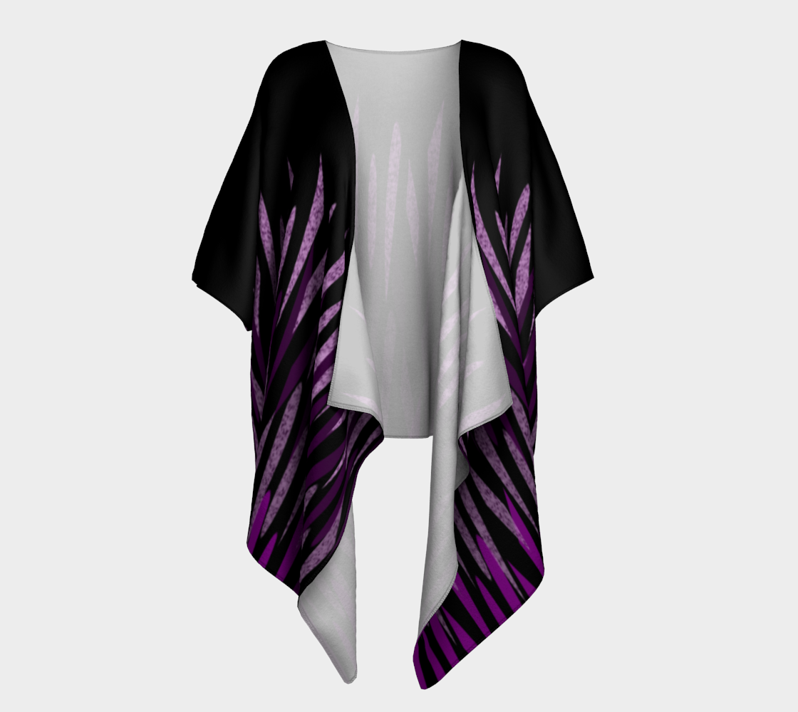 Purple Ice Abstract Draped Kimono preview