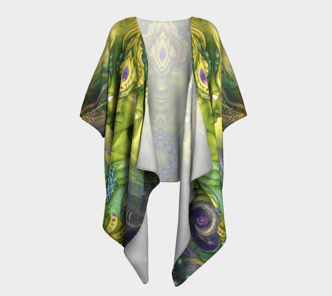 Flora in the Heart Draped Kimono thumbnail #2