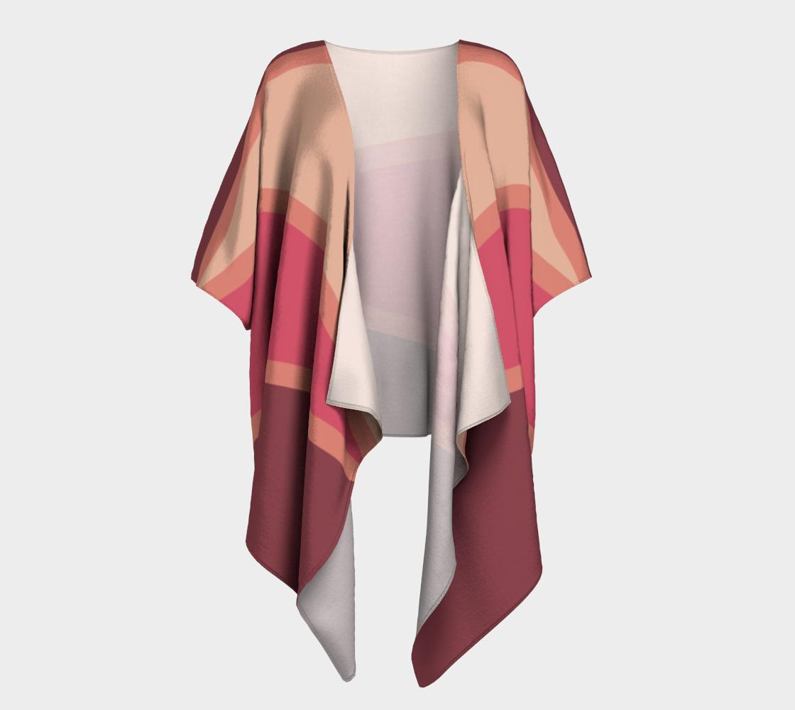Romantic Blush Triangle Pattern Draped Kimono preview