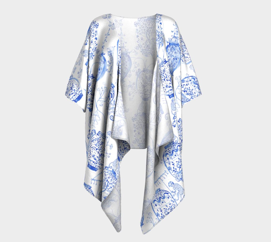 Aperçu de Draped Kimono - Watercolour Chinoiserie Vases
