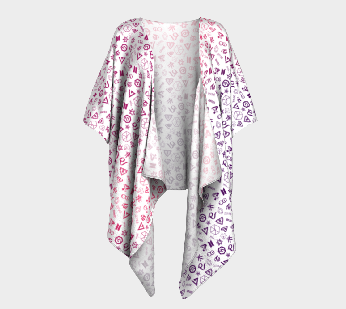 Multifan Draped Kimono preview